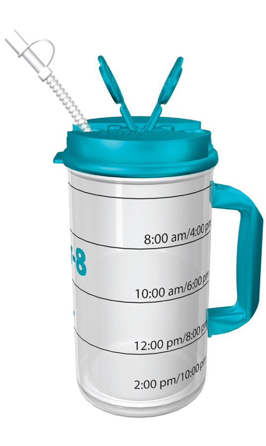 Daily Water Intake Bottle | Water Bottle With Measurements ...