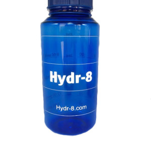 blue sports bottle hydr8